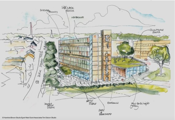 S1 Art Space, artist's impression of new site at Park Hill, Sheffield