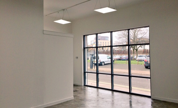 The Telfer Gallery, Glasgow, looking out onto Ross Street. Photo: The Telfer Gallery