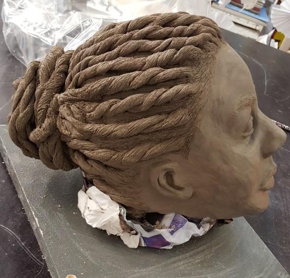 Sculpture, Afro hair,