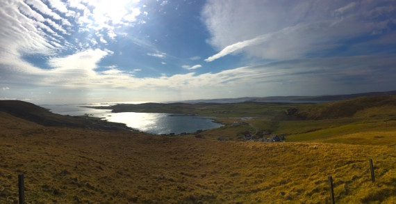 View welcoming us to Shetland