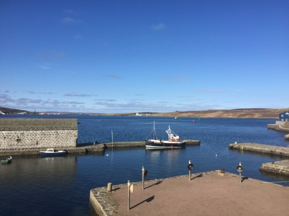 View from Shetland Museum & Archives