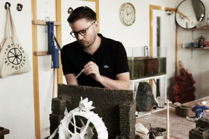 Aaron Angell at the Troy Town Art Pottery. Photo: Andy Keate. Courtesy of Aaron Angell.
