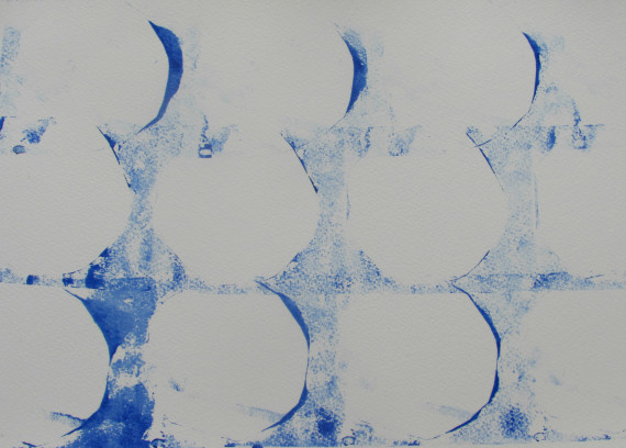 South Sea Bubble, mono print