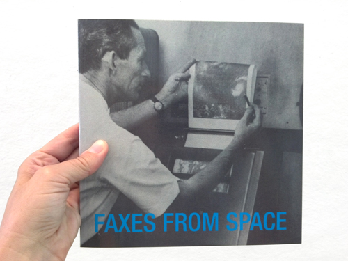 Faxes from Space, Heidi Neilson, 2014. Digital offset printed, 200 pages. Photo: Heidi Neilson