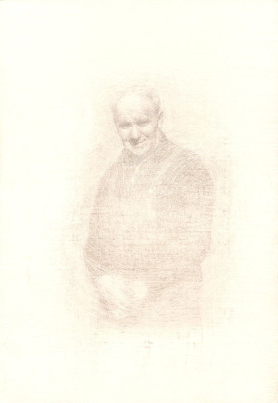 roy eastland 14.5x21cm silverpoint work in progress