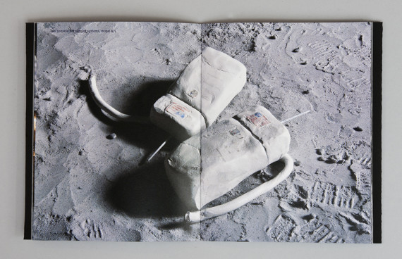 Heidi Neilson, Tranquility Base, 2012. Digital offset printed and pamphlet stitched by hand, 16 pages, edition of 50. Photo: Heidi Neilson http://heidineilson.com