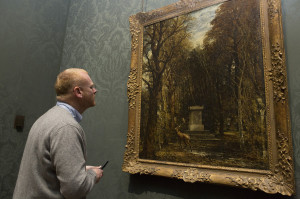 George Shaw in Room 34 looking at NG1272 Photo © The National Gallery, London