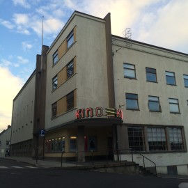 KinoKino, the towns former cinema now houses a gallery, cafe (with its own micro brewery!), dance/performance stage, the Sandnes Artists' Association, rehearsal and screening rooms.