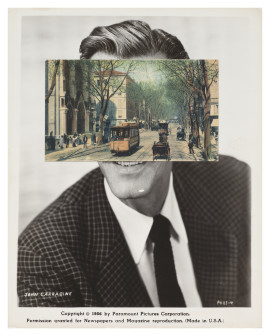 John Stezaker, Mask (Film Portrait Collage) , CLXXXV 2015, © the artist, courtesy The Approach, London
