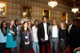 The International Curators Forum at the House of Commons in London with curator Okwui Enwezor, MP David Lammy and artist Nicola Green