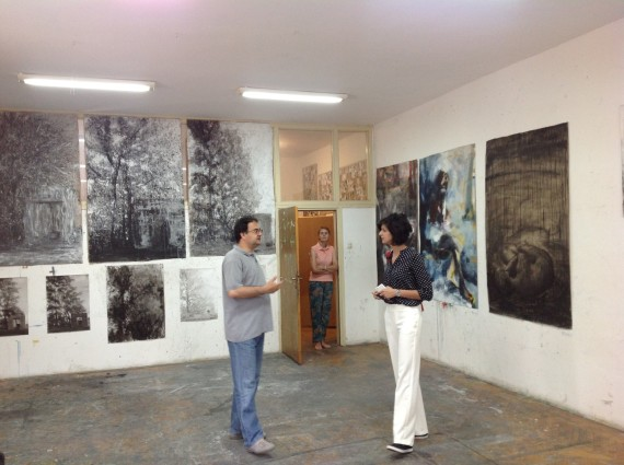 Sara Lerota at the art academy in Trebinje