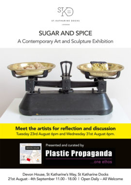 Sugar and Spice exhibition flyer
