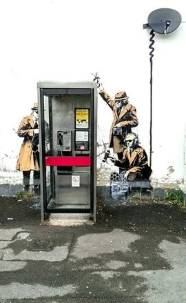 Banksy, Hewlett Road, Cheltenham. Photo: Brian Robert Marshall. Creative Commons