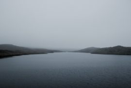 A misty image of the Teifi Pools, in West Wales, UK.