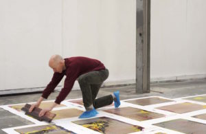 Maurice Carlin, 'Performance Publishing: Excelsior Works', V22, London (2015). Performance co-commission from V22 and 'Multiplied' at Christies, to publish the 5000 sq ft 'Excelsior Works' warehouse floor plate in CMYK relief prints, before a radical transformation of the surrounding area