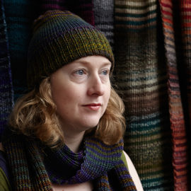 Knitwear designer Layla Chelache