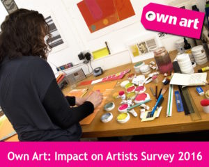 Own Art Artists Survey. Image courtesy of Own Art