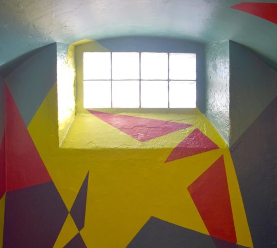 Rhona Taylor, Deviation   Painting directly on to cell walls, ceiling and floor