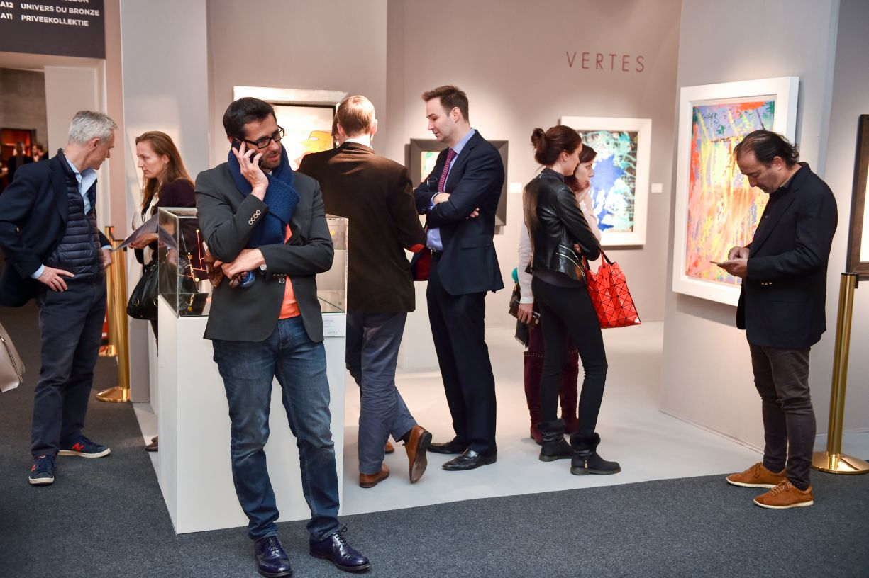 PAD Art fair, day two, at PAD, London, Britain on 13 Oct 2015