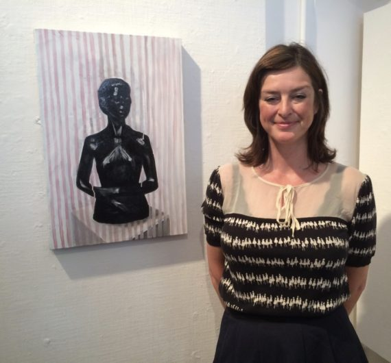 Contemporary British Painting Prize 2016 winner Cathy Lomax with her work Black Venus.