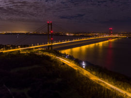 Humber Bridge Night. Copyright: Octovision Media