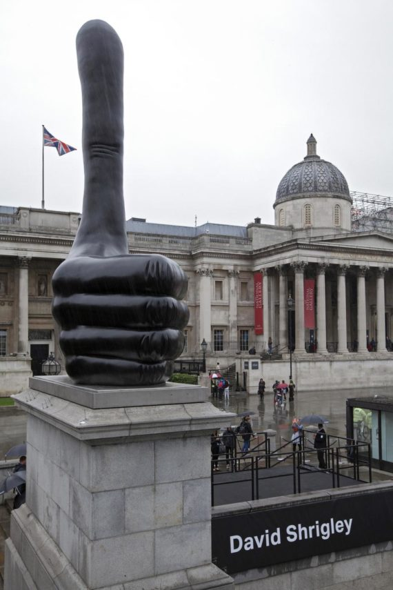 Thumbs Up Up Up David Shrigley S Fourth Plinth