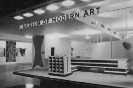 Installation photograph of the exhibition, 'Bauhaus: 1919-1928', at MoMA, New York which was on view from Dec. 7, 1938, through Jan. 30, 1939
