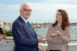 Paolo Baratta and Christine Macel. Photo by Andrea Avezzu. Courtesy La Biennale Di Venezia Low