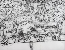 Thomas Treherne, Untitled Panorama, Jerwood Drawing Prize 2016