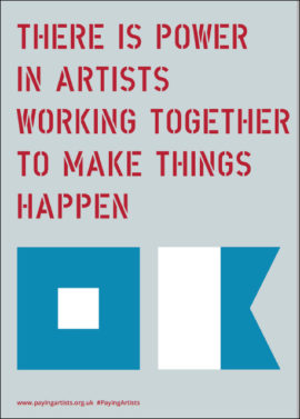 Paying Artists Artist-Led Manifesto