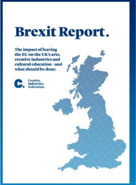 Creative Industries Foundation, Brexit Report cover, published October 2016