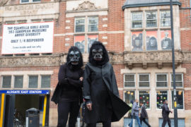 Whitechapel Gallery Guerrilla Girls Commission: Is it even worse in Europe? (2016). Photo: David Parry/PA Wire