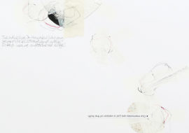 Detail from abstract minimalist collage & drawing by David Smith