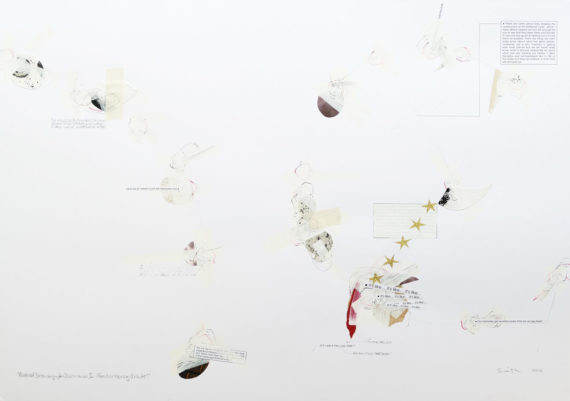 Abstract minimalist collage & drawing by David Smith