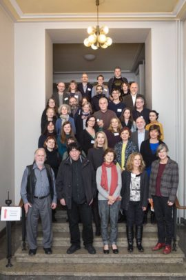 Delegates at the International Association of Art (IAA) Europe's annual general meeting in Berlin, November 2016