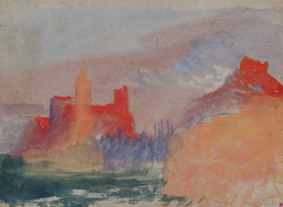 JMW Turner, Vermilion Towers, c.1834. Copyright: Tate, London 2015