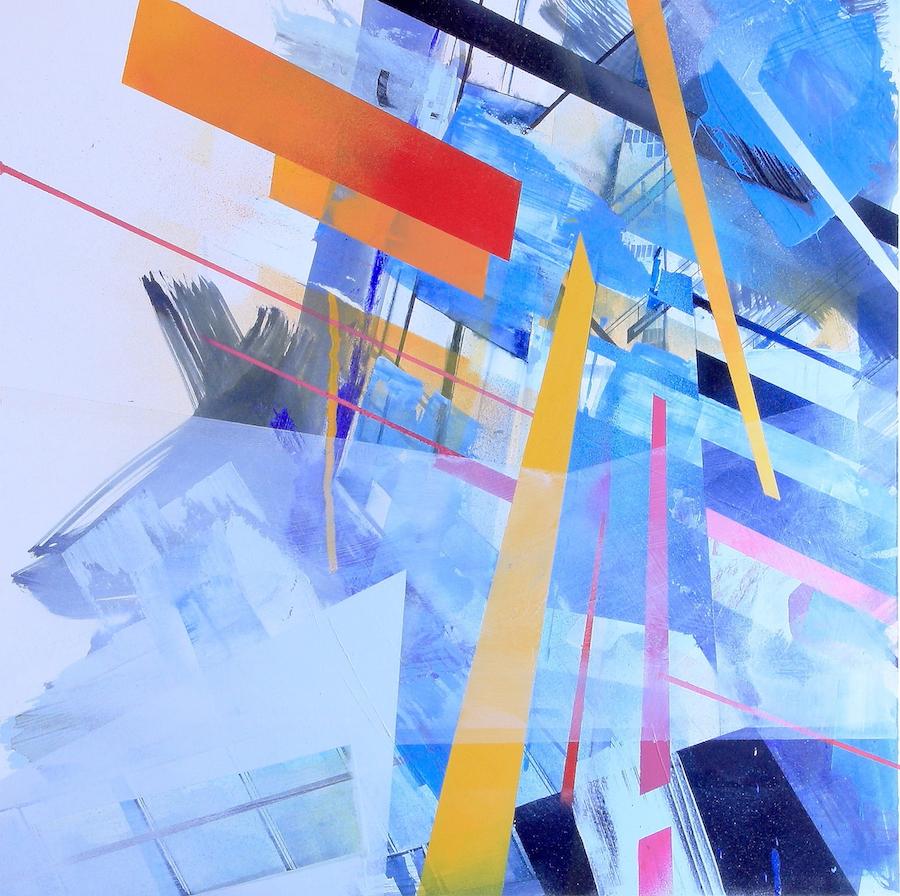 Shard Abstracted Original Mixed Media Artwork by Joanna Gilbert