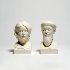 Kenny Hunter, What is History, painted resin, 13.5x13.7x25.5 cm, edition of 100, 1998.