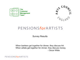 Pensions for artists. Image taken from front cover of PDF.