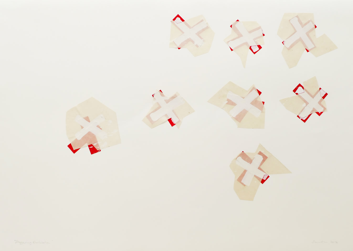 Abstract, minimalist collage by David Smith