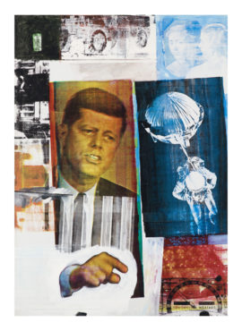 Robert Rauschenberg Retroactive II 1963 (detail) Museum of Contemporary Art Chicago. Partial gift of Stefan T. Edis and H. Gael Neeson © Robert Rauschenberg Foundation, New York. All Rights Reserved. Photo: Nathan Keay © MCA Chicago