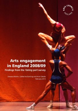 Arts engagement in England 2008/09. Image taken from front cover of PDF.