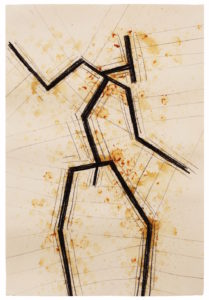 Antony Gormley, SITE II, 2016 Charcoal and latex on paper 111 x 76.5cm © Antony Gormley