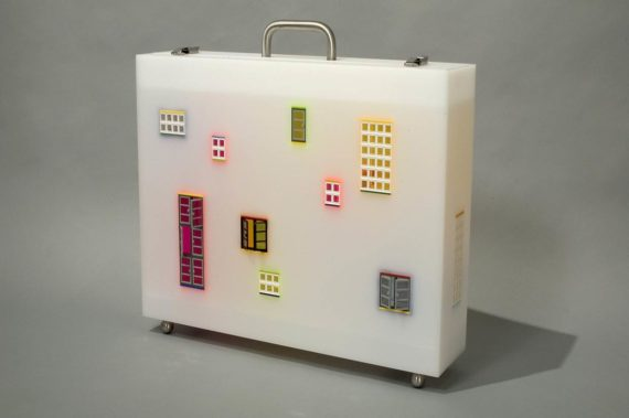 Jaye Moon, My Neighborhood, 2005, Lego  Plexiglas. Courtesy: Hanmi Gallery; See London Art Fair, Art Projects