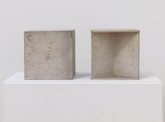'Two Cubes (Demonstrating the Stereometric Method) (1930) Naum Gabo