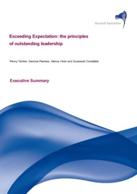 Exceeding expectations: the principles of outstanding leadership. Image taken from front cover of PDF.
