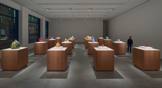 Installation view, 'Ken Price. A Study of Sculptures and Drawings, 1959 – 2006', Hauser & Wirth London. Photo: Alex Delfanne