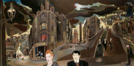 Alasdair Gray, Cowcaddens Streetscape in the Fifties, 1964