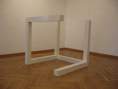 'Incomplete open cube (1968) Sol LeWitt