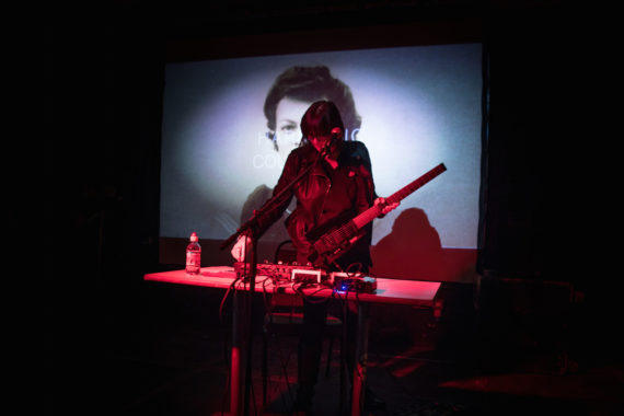 Cosey Fanni Tutti, COUM Transmissions opening live event, Hull, February 2017. Photo: © Patrick Mateer
